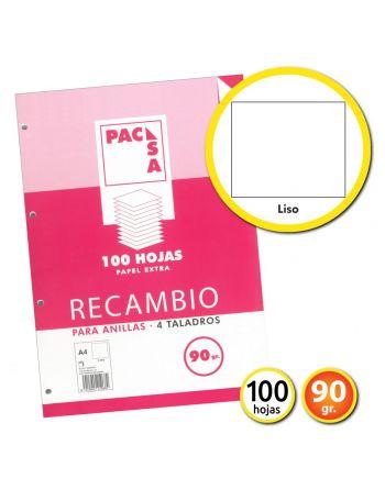 RECAMBIO A4 4 ANILLAS LISO...